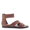 Womens flat sandals Souvenir in Sangria side view