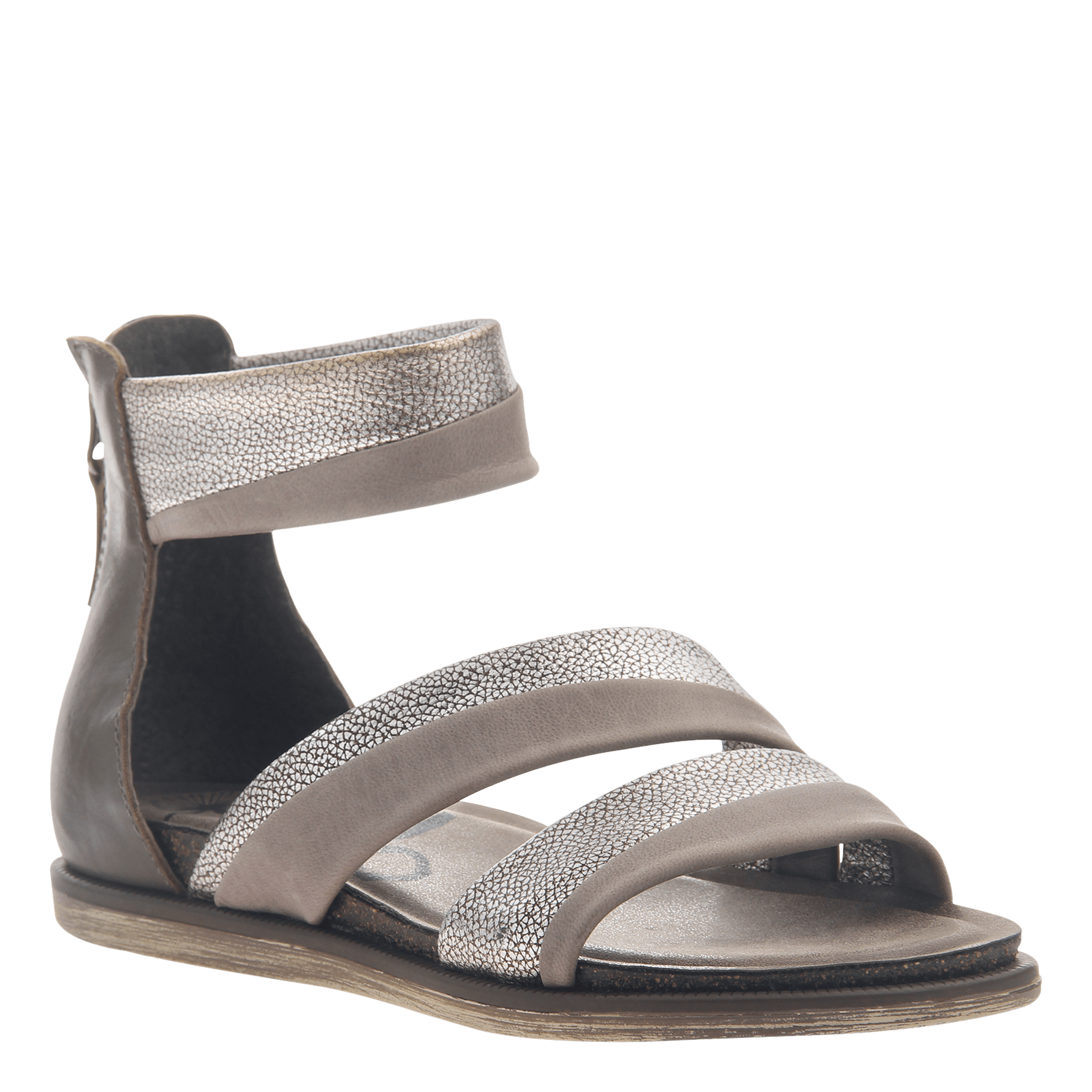 cf6a9b48a0f Womens flat sandals Souvenir in Zinc
