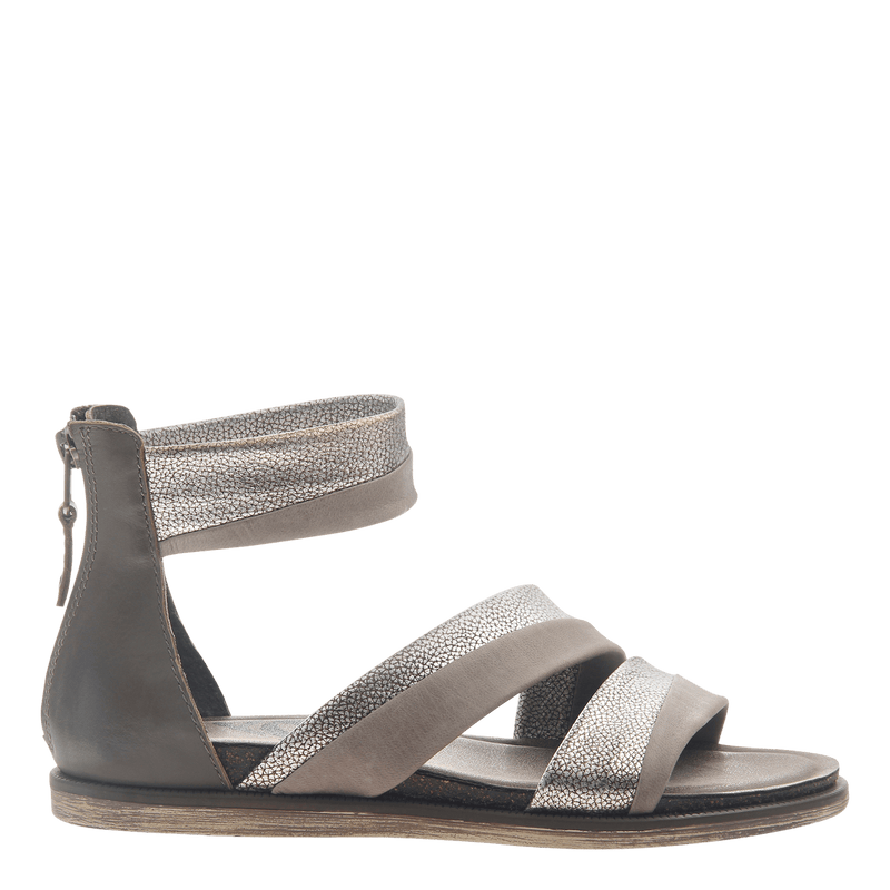 Womens flat sandals Souvenir in Zinc
