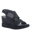 Womens light weight sandal wedge Milky Way in Black