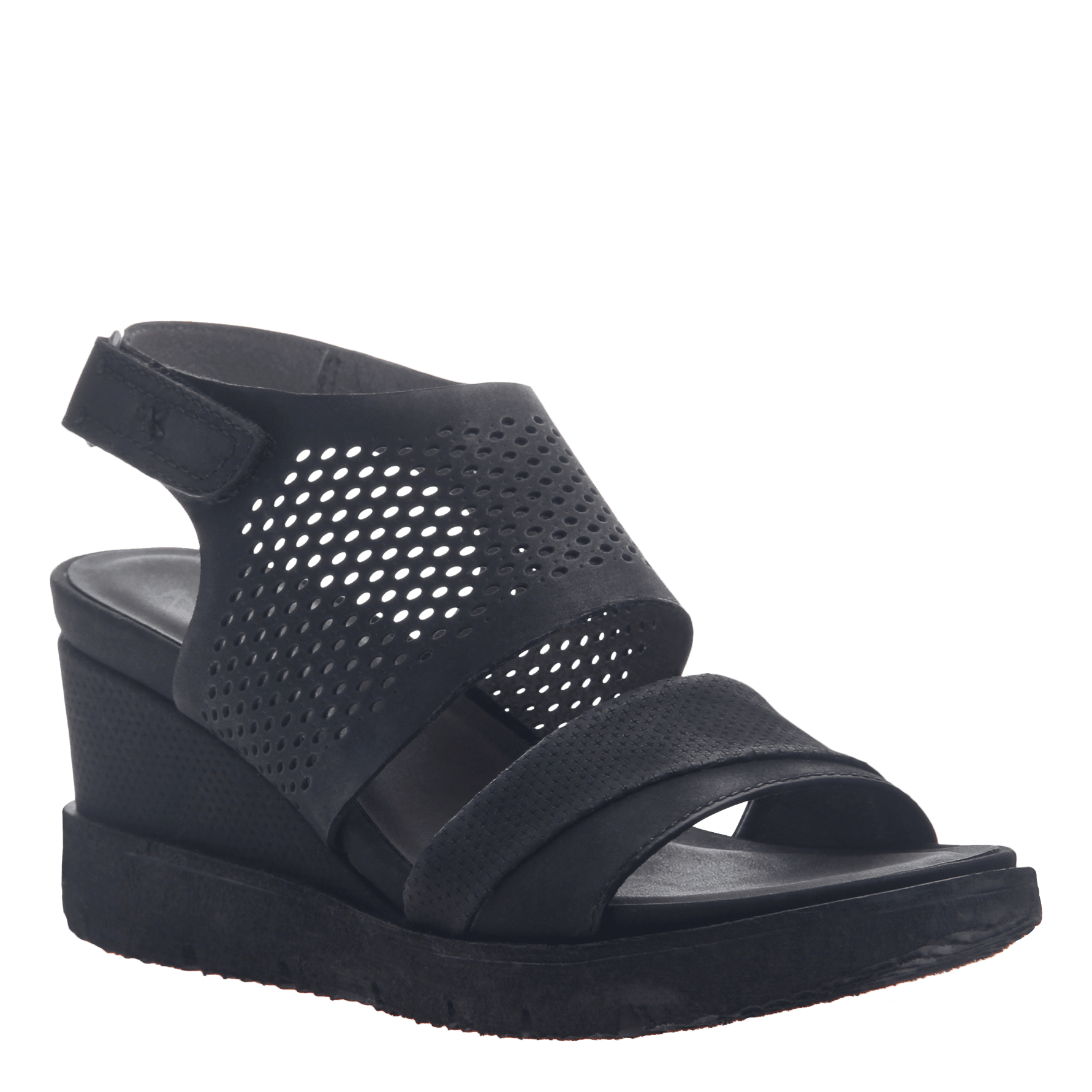 fa98692c4742 Womens light weight sandal wedge Milky Way in Black