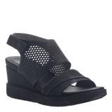 MILKY WAY in BLACK Wedge Sandals