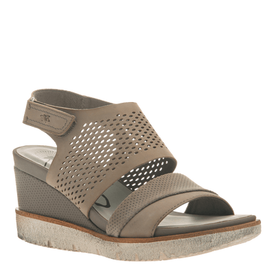 Womens light weight sandal wedge Milky Way in Cocoa