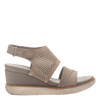 Womens light weight sandal wedge Milky Way in Cocoa side view