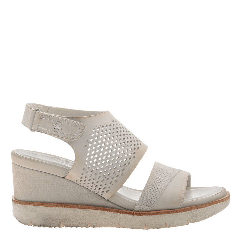Womens light weight sandal wedge Milky Way in Dove Grey