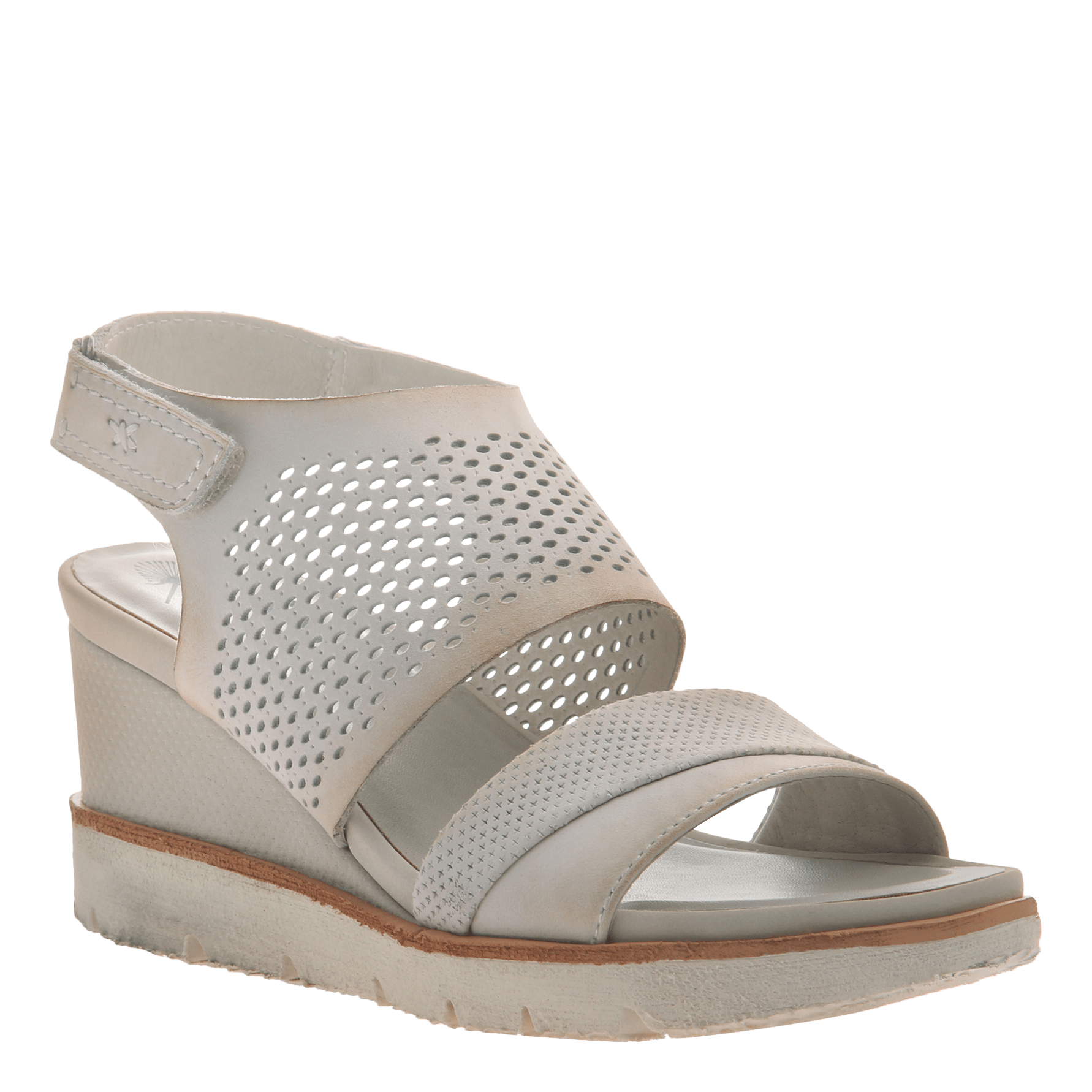 d224d2631444 Womens light weight sandal wedge Milky Way in Dove Grey