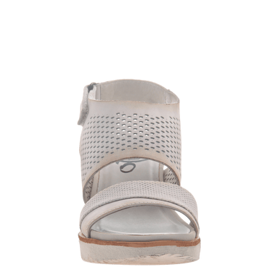 Womens light weight sandal wedge Milky Way in Dove Grey front view