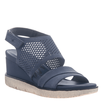 Womens light weight sandal wedge Milky Way in New Blue