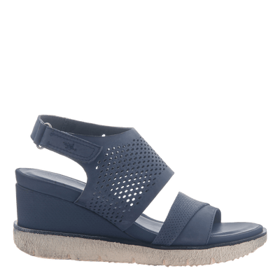 bdce011d917 Milky Way in New Blue Wedge Sandals | Women's Shoes by OTBT
