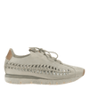 Womens cut out sneaker Nebula in Bone side view