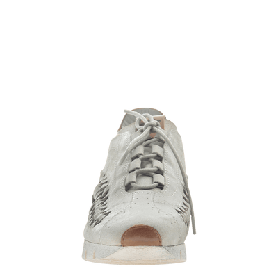 Womens cut out sneaker Nebula in Bone front view
