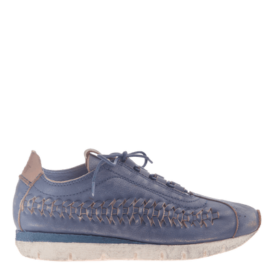 Womens cut out sneaker Nebula in King Blue side view