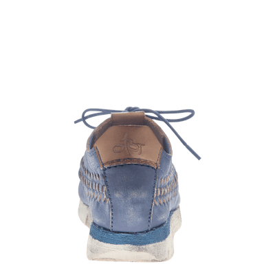 Womens cut out sneaker Nebula in King Blue back view
