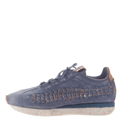Womens cut out sneaker Nebula in King Blue inside view