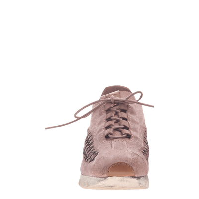 Womens cut out sneaker Nebula in Salmon front view
