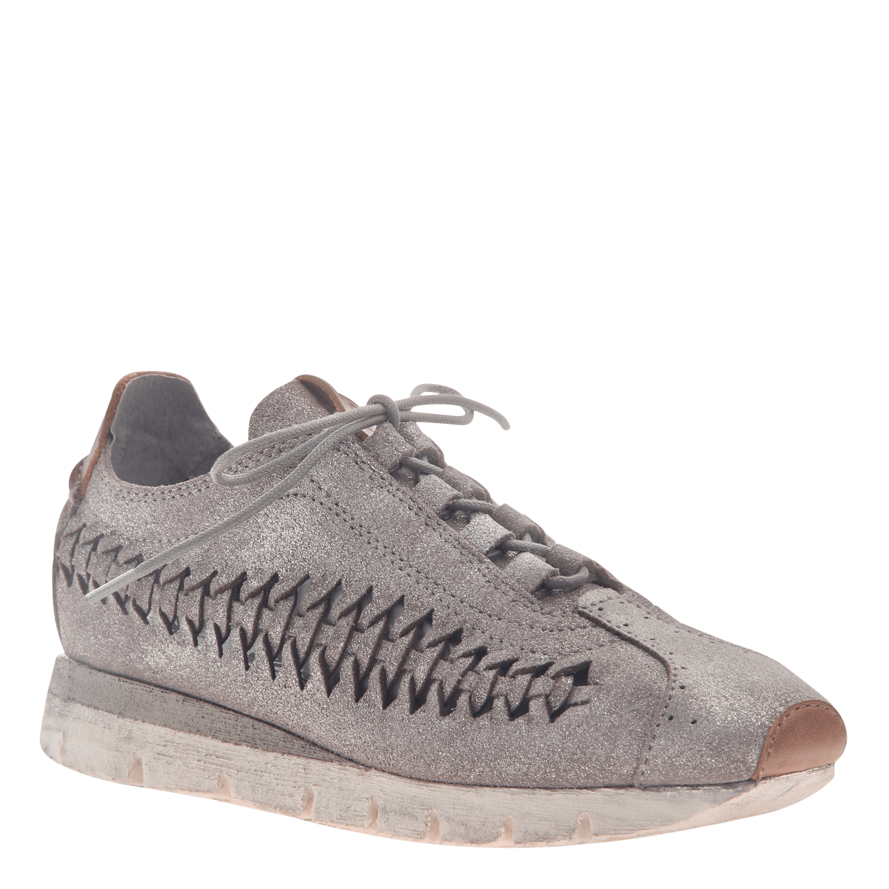 Womens cut out sneaker Nebula in Grey Silver