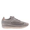 Womens cut out sneaker Nebula in Grey Silver side view