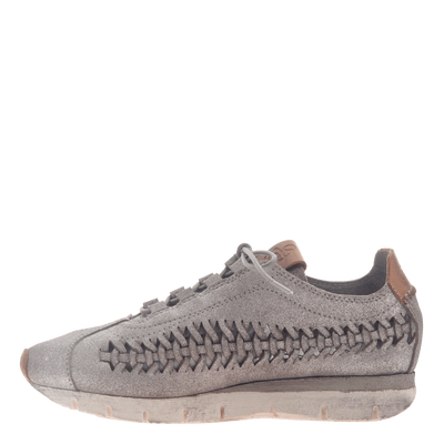 Womens cut out sneaker Nebula in Grey Silver inside view