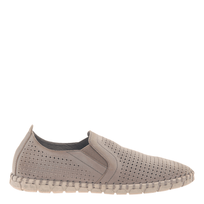 Womens light weight perforated sneakers Universe in Cocoa side view