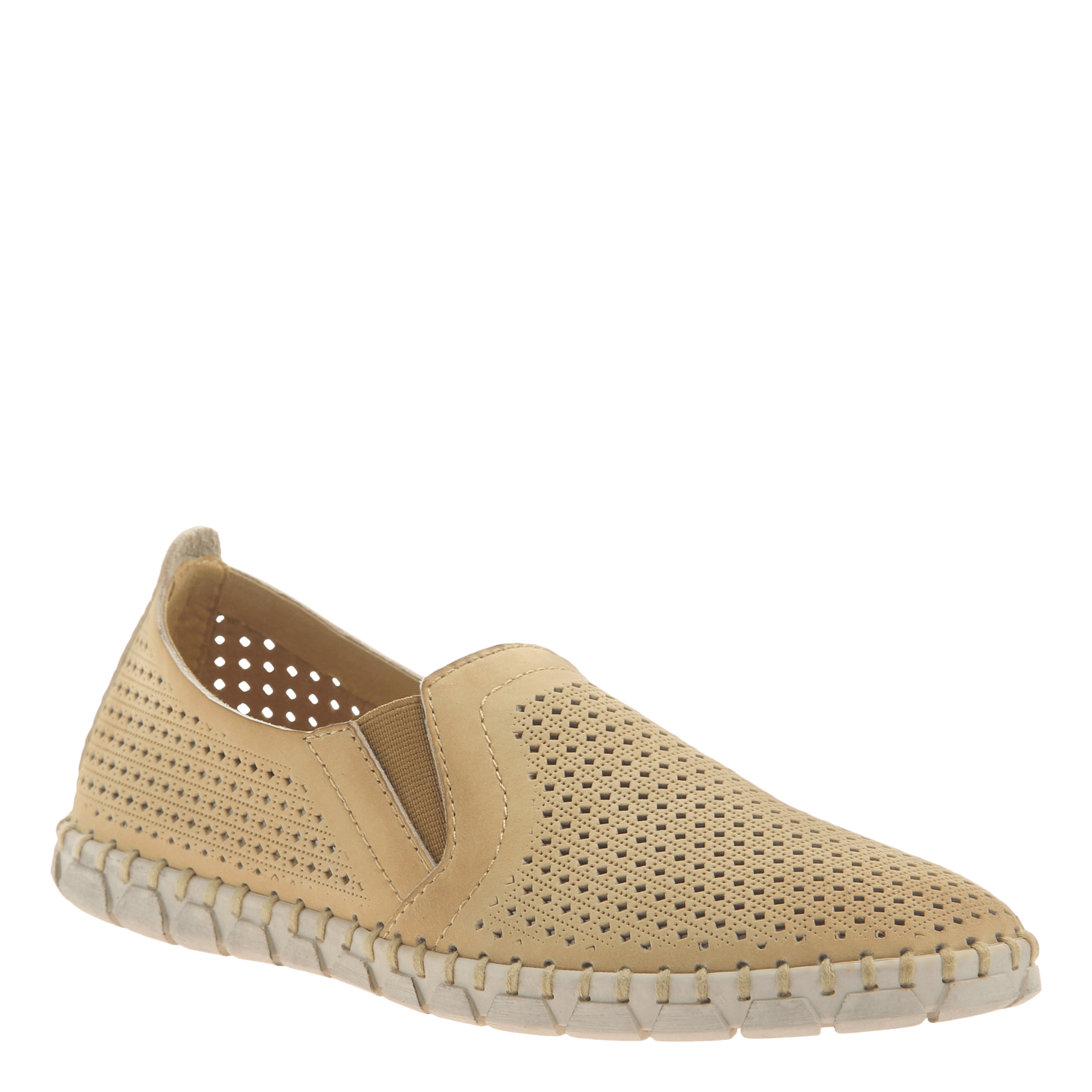 Womens light weight perforated sneakers Universe in Yellow