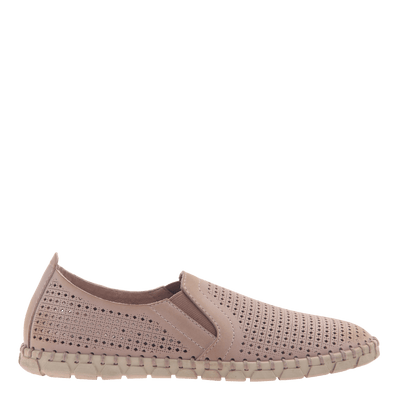 Womens light weight perforated sneakers Universe in Warm Pink side view