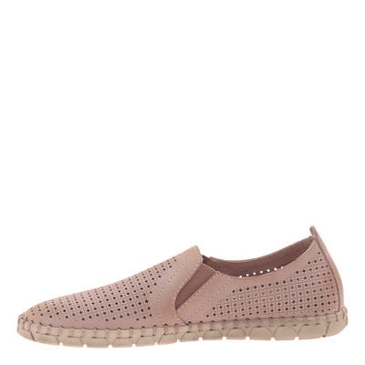 Womens light weight perforated sneakers Universe in Warm Pink inside view
