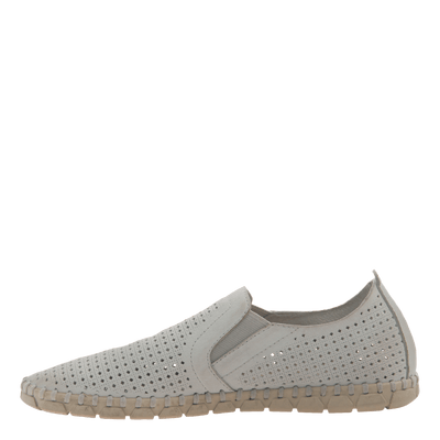 Womens light weight perforated sneakers Universe in White inside view