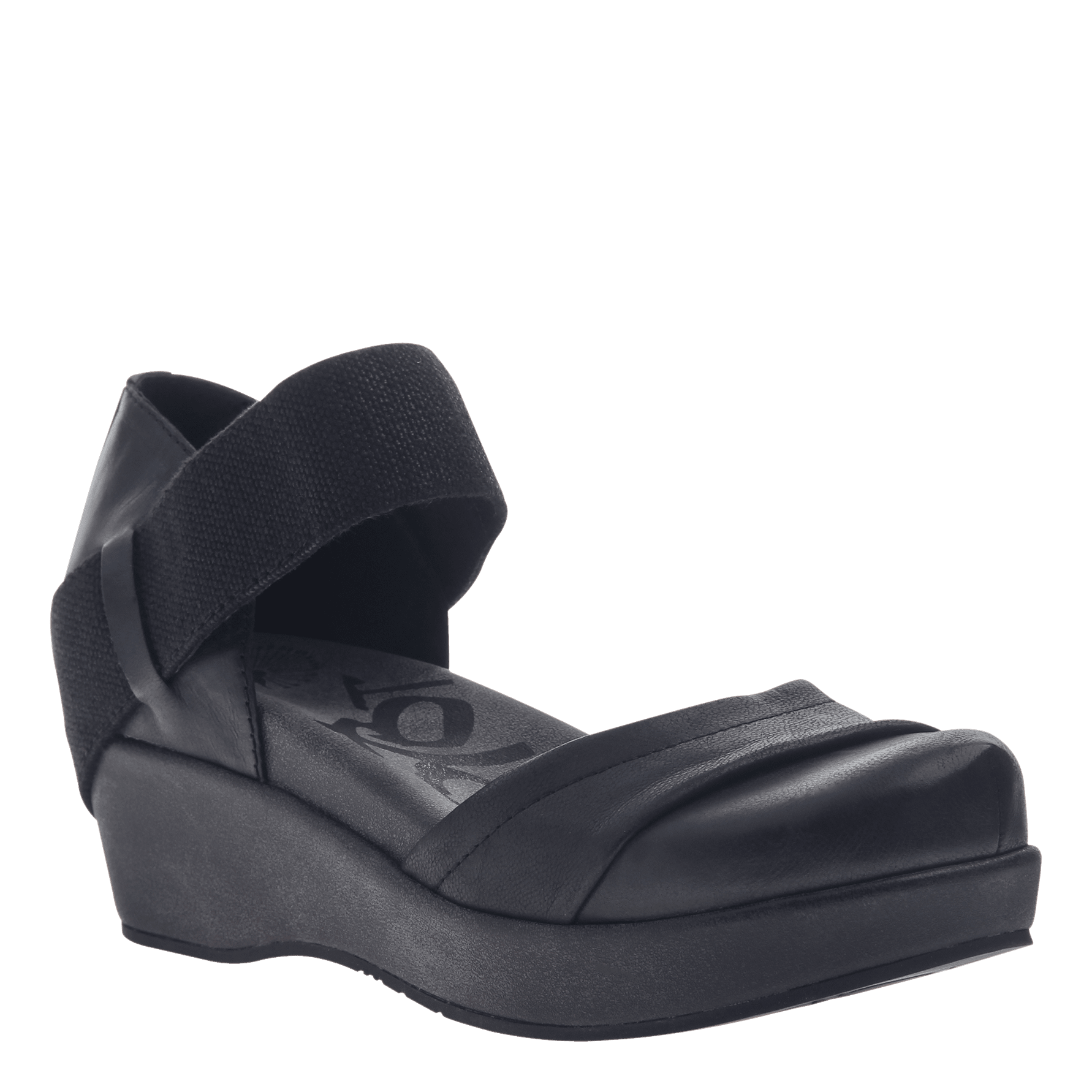 90884861a30 WANDER OUT in BLACK Closed Toe Wedges