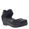 Womens closed toe wedges wander out in black