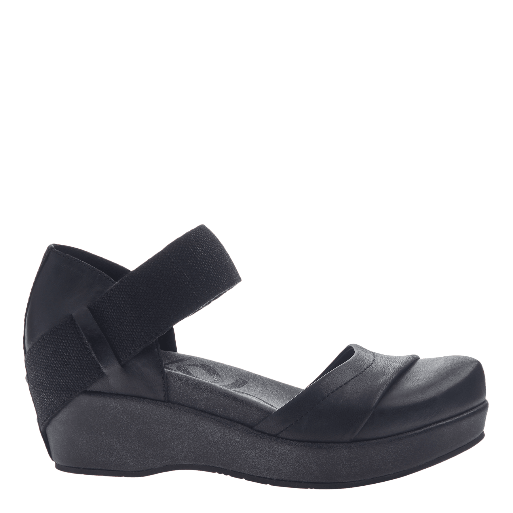 d10f06dd0bd6 Womens closed toe wedges wander out in black side view