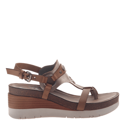 Womens maverick new taupe sandals side view
