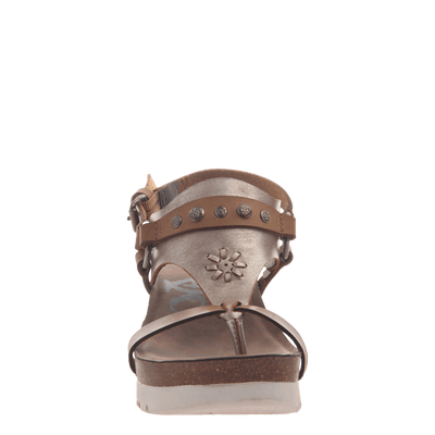 Womens maverick new taupe sandals front view