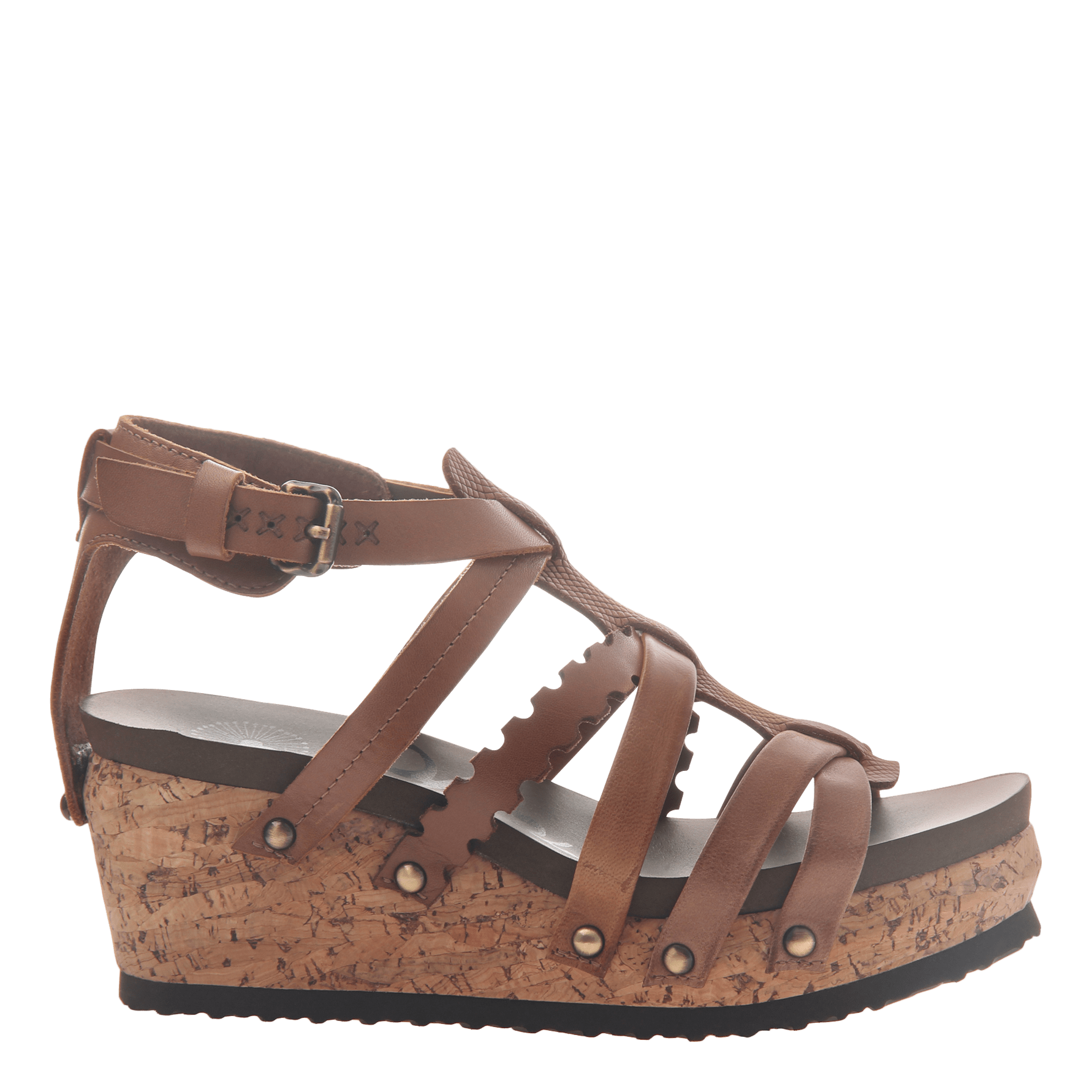 b2d5f1f719d2 Womens wedge gladiator sandal storm in New Brown side view
