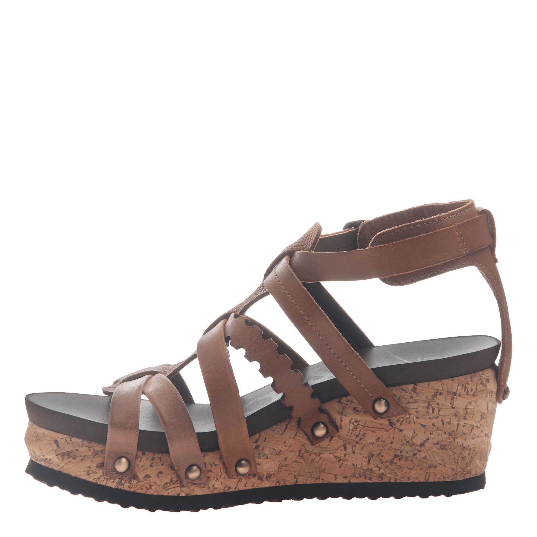 9f069b9ffd8 Womens wedge gladiator sandal storm in New Brown side view