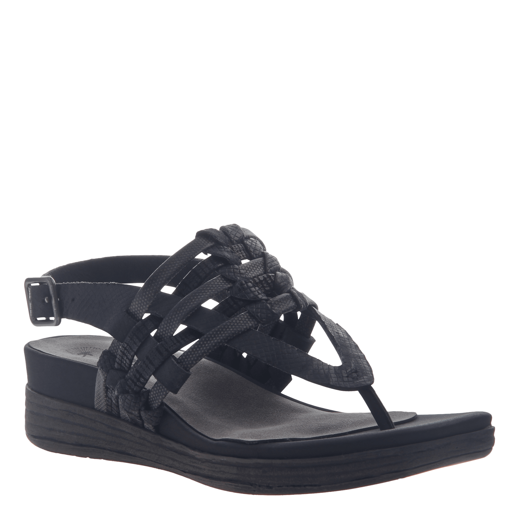 587065ad5375f Aviate in Black Wedge Sandals | Women's Shoes by OTBT