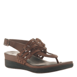 AVIATE in NEW BROWN Wedge Sandals