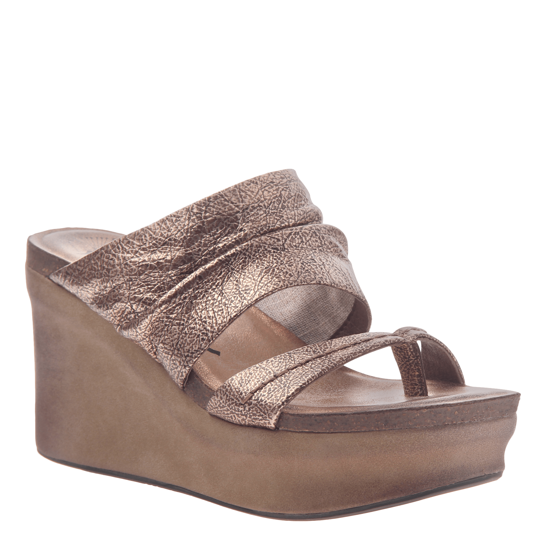 Womens wedge tailgate in copper