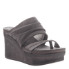Womens wedge tailgate in Zinc