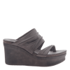 Womens wedge tailgate in Zinc side view