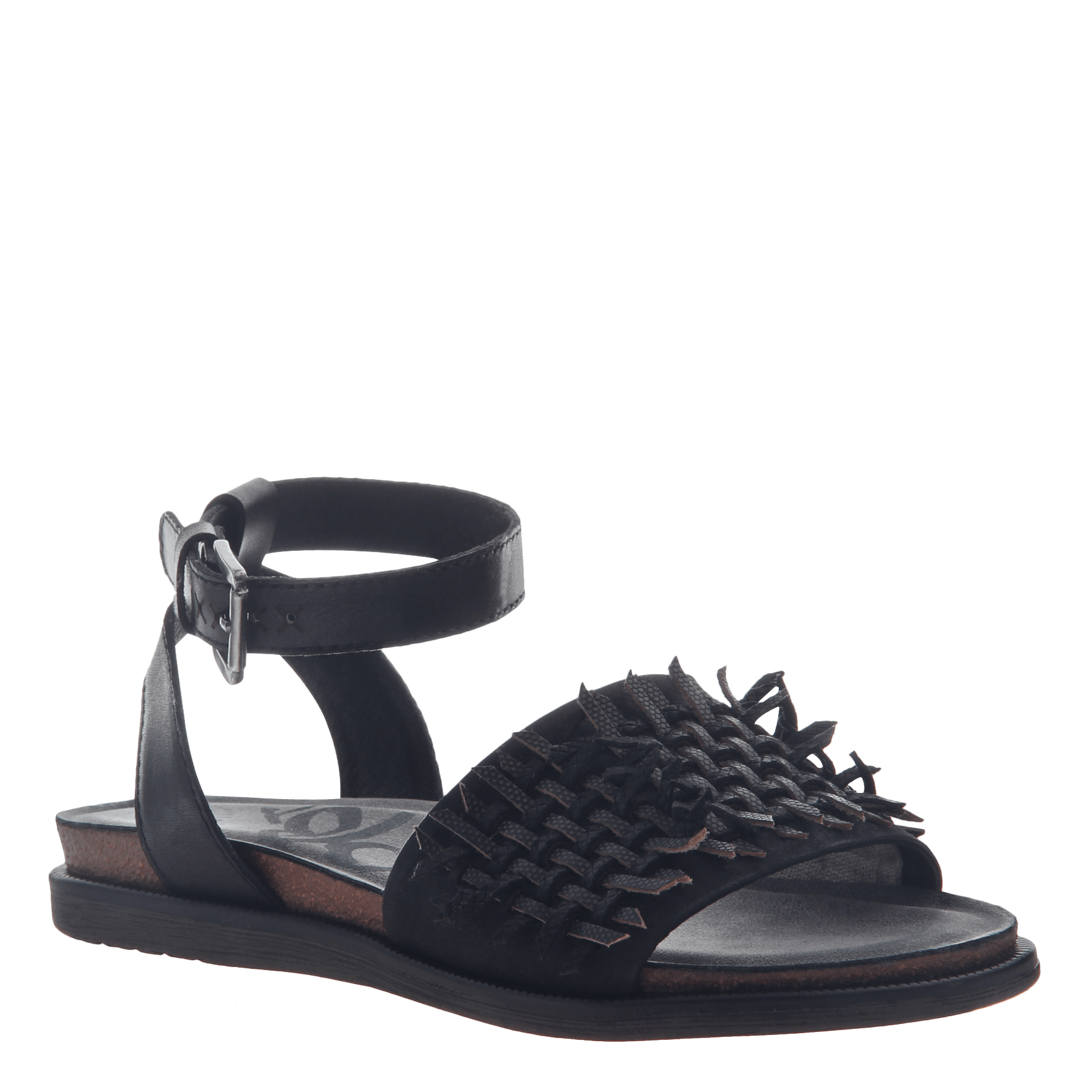 Womens flat sandal voyage in black