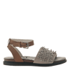 Womens flat sandal voyage in Dove Grey side view