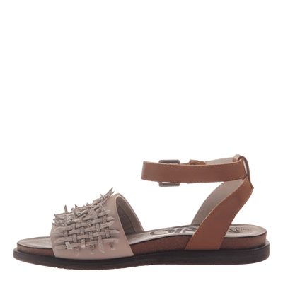 Womens flat sandal voyage in Dove Grey inside view