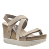 Womens wedge sandals wavey in cacao