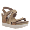 Womens wedge sandals wavey in Mid Brown