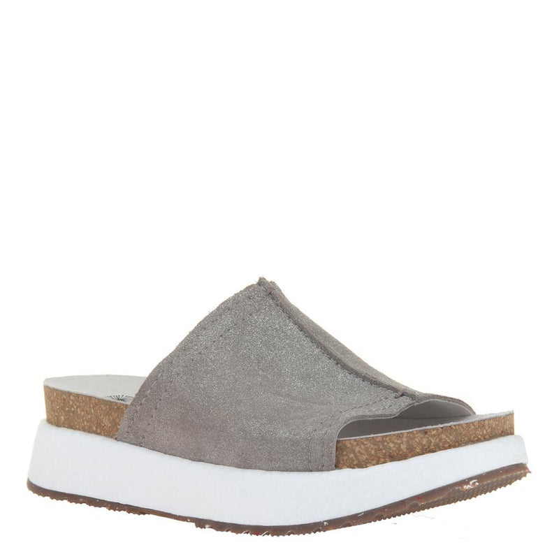 WAYSIDE in GREY PEWTER Wedge Sandals