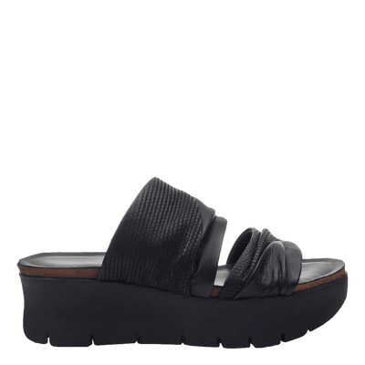 Womens wedge sandals Weekend in black side