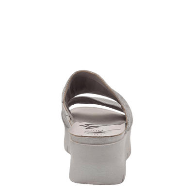 Womens wedge sandal Weekend in dove grey back