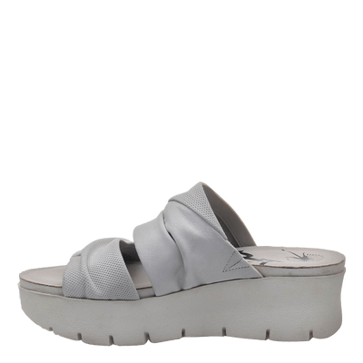 Womens wedge sandal Weekend in dove grey inside