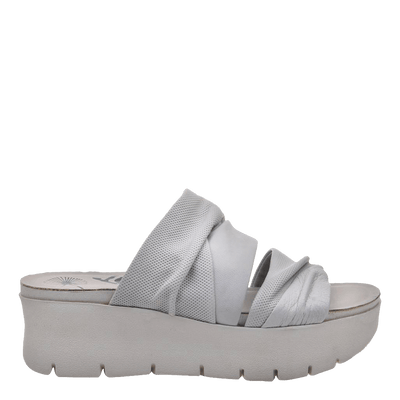 Womens wedge sandal Weekend in dove grey side