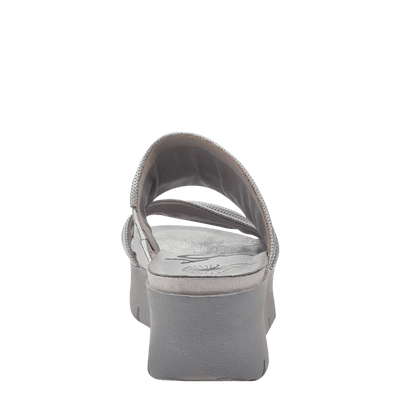 Womens wedge sandals Weekend in silver back